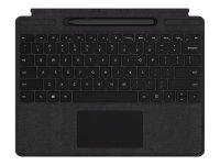 Microsoft Surface Pro X Signature Keyboard with Slim Pen Bundle - Tastatur - mit Trackpad - hinterleuchtet - Deutsch - Schwarz - für Surface Pro X